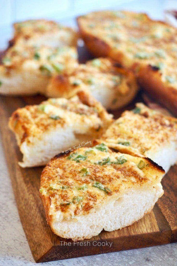 Most Amazing Cheesy Garlic Bread Recipe The Fresh Cooky Recipe Recipes Cheesy Bread Low Carb Recipes Dessert