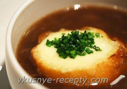 Луковый суп с крутонами | Вкусные рецепты