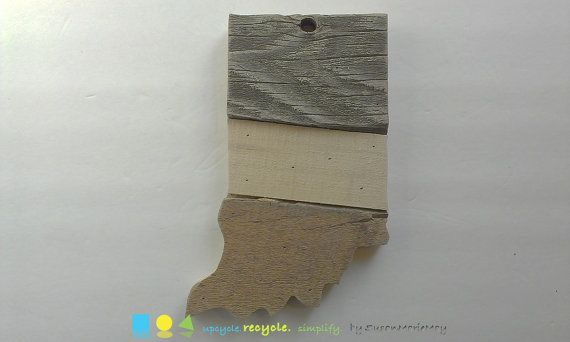 Indiana map art Indiana state wall art Wood art by SusanMarieMay