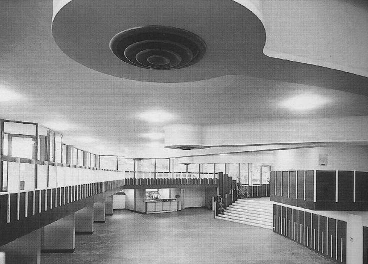Mensa aziendale e circolo ricreativo, Gardella, Migliasso e Guidacci, 1955