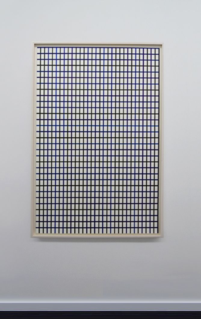 "Winston Roeth (b 1945) ~ ""Large Dark Line Vertical Grid"". 