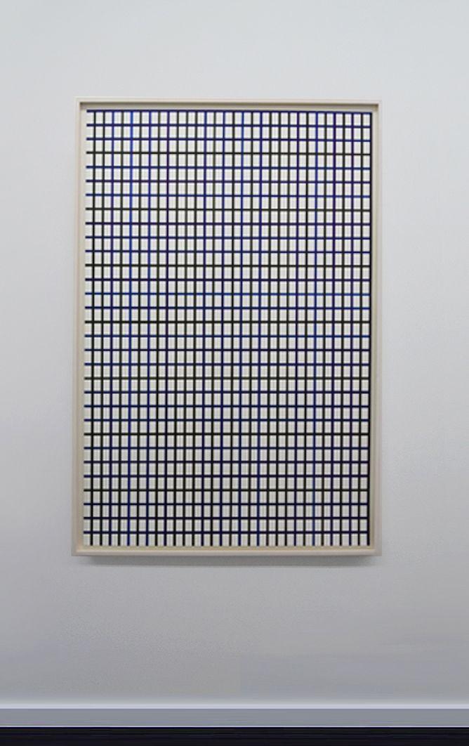 "Winston Roeth (b 1945) ~ ""Large Dark Line Vertical Grid"".   #art #painting #hardedge #abstract #minimalart #conceptualart"