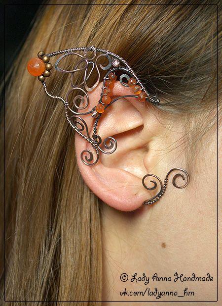 wire woven elf ear jewelry