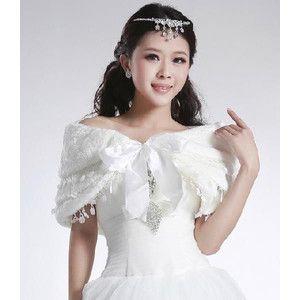 花嫁ショール パシュミナ風ストール 結婚式 披露宴 ウェディングドレスショール 結婚ドレスアップに最適なショール・ストール