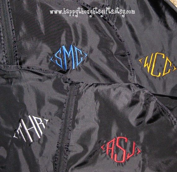 Monogrammed Garment Bag - Great for Guys by happythoughtsgifts, $24.00