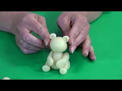 Hoe maak je een schattig beertje van marsepein