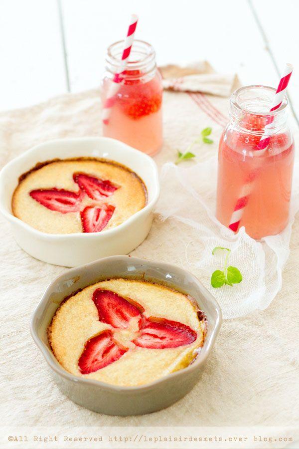 Gratin de fraises aux amandes