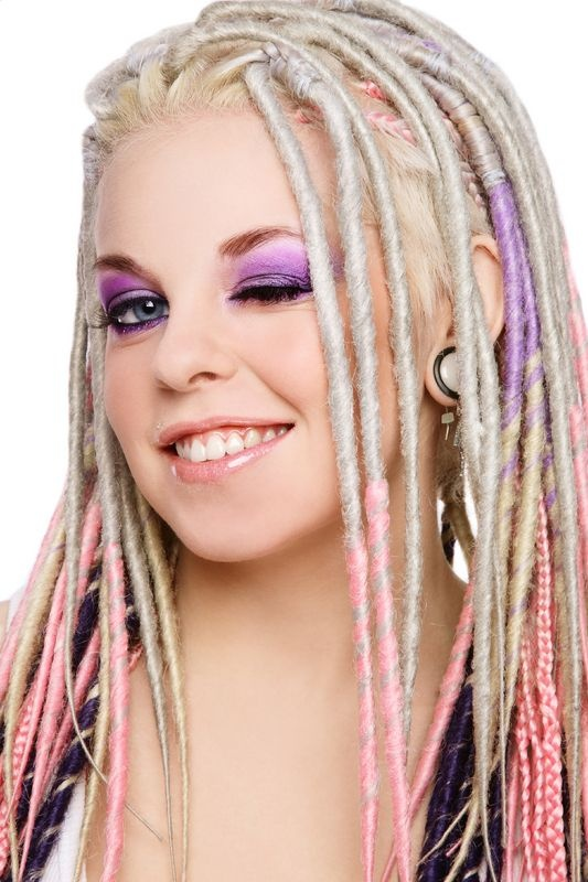 white girl dreads and box