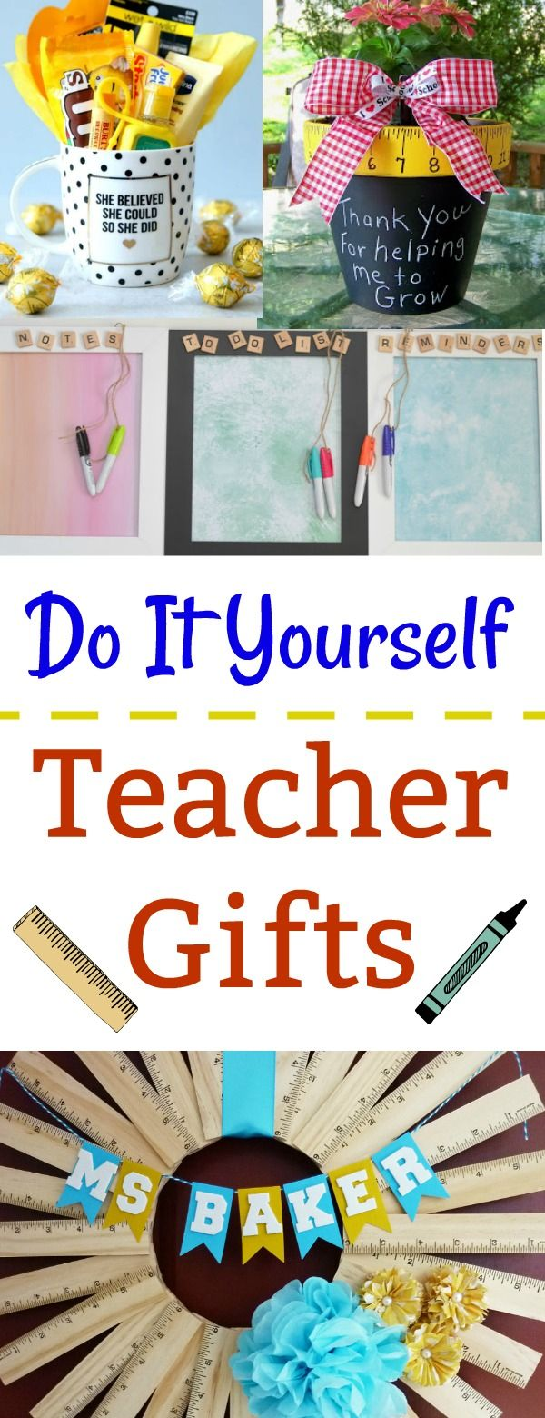 327 best diy upcycle images on pinterest craft occupational 9 diy teacher gifts solutioingenieria Images