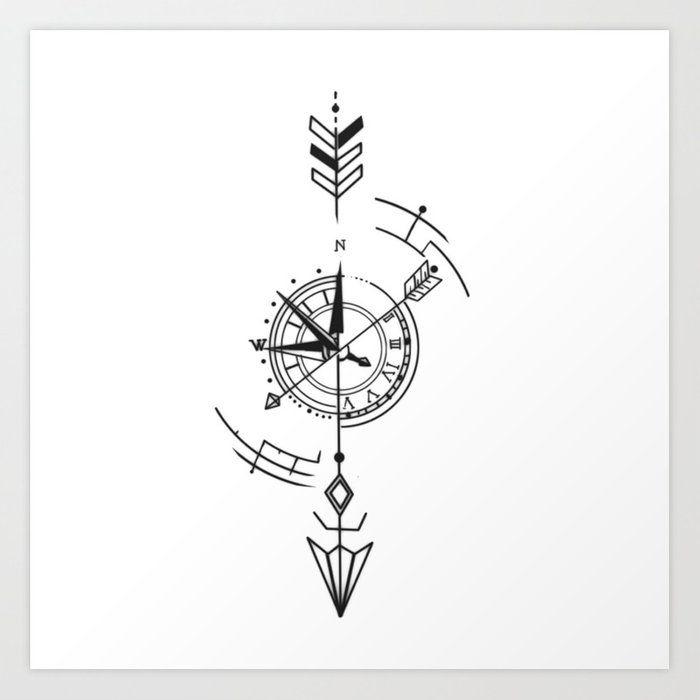 Anker Tattoo Design, Compass Tattoo Design, Arrow Tattoo Design, Geometric Tattoo Design, Arrow Compass Tattoo, Geometric Arrow Tattoo, Circle Tattoo Design, Geometric Tattoo Meaning, Compass Art