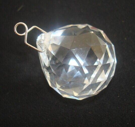Горячие продажа 100 шт./лот 20 мм кристалл граненый призма мяч + 100 шт./лот металлический крюк для свадьбы и мяч люстра гирлянда strand