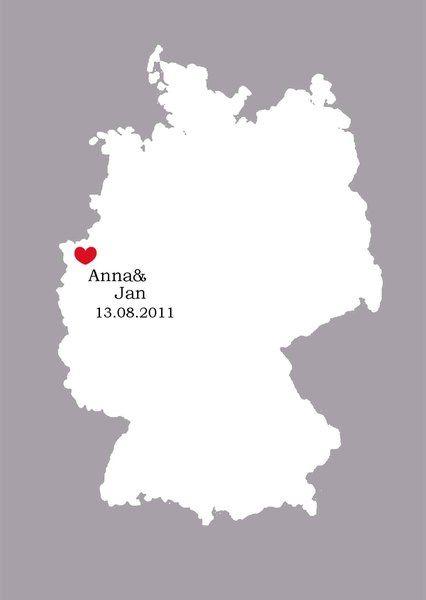 Herzschlag -Gästebuch mal anders - PDF von Kreative Papeterie für Hochzeit, Geburt und Geburtstag! auf DaWanda.com