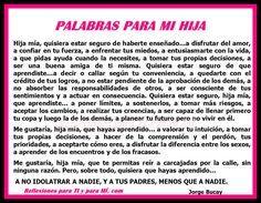 Jorge Bucay Reflexiones | Reflexiones para TI y para MÍ: * PALABRAS PARA MI HIJA (Poema Jorge ...
