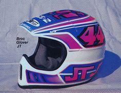1988 Serrano Painted JT Racing ALS Helmet of Broc Glover | Flickr - Photo Sharing!