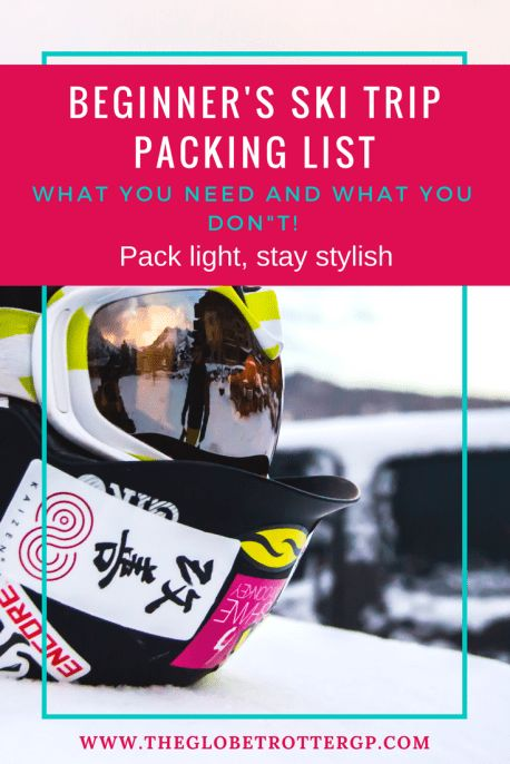 A beginner ski packing checklist. All the gear, products and clothings you will need to keep you warm in the cold weather on your winter snow holiday! What to pack and what to wear on your first skiing vacation! Get your FREE skiing packing checklist here! Plus lots of tips and tricks for what to pack to travel light and stay stylish from the slopes to the apes ski! #skiholiday #skiingpackinglist