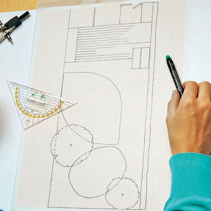 So zeichnen Sie einen Gartenplan Garten grundriss