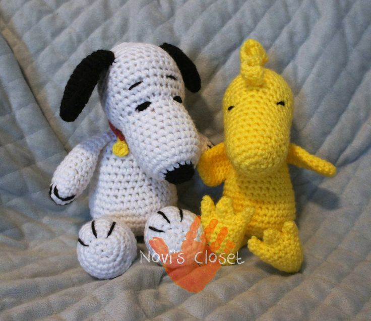 Crochet Snoopy and Woodstock Novis Closet - My Own Work ...