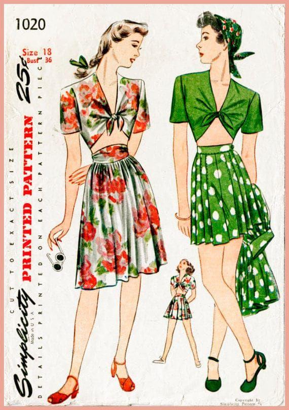 Fashion sure has changed, hasn't it? - 1940s pleated skirts Elegant fashion era.