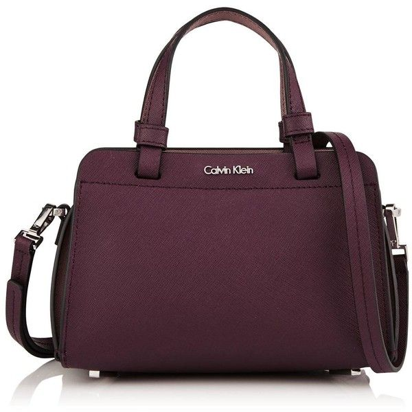 Calvin Klein Sofie Micro Duffle Crossbody Bag (7.170 RUB) ❤ liked on Polyvore featuring bags, handbags, shoulder bags, calvin klein, calvin klein handbags, purple purse, duffle handbag and purple crossbody purse