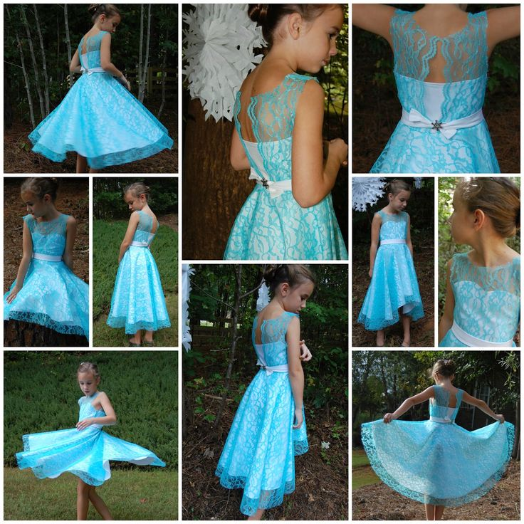 Everyday Elsa ~ Denim Party Dress {Project Run & Play Week 3} | Pinafores & Pinwheels