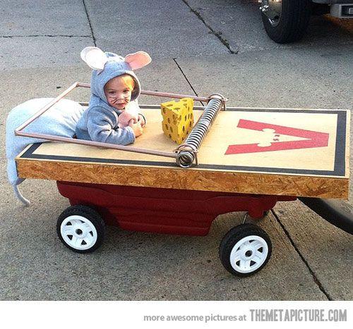 @Jennifer Milsaps Clubb costume for Nat, funny mouse trap Halloween costume