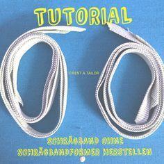 Tutorial Schrägband ohne Schrägbandformer herstellen - Variante 2                                                                                                                                                                                 Mehr