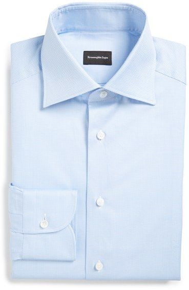 Men's Ermenegildo Zegna Regular Fit Houndstooth Dress Shirt