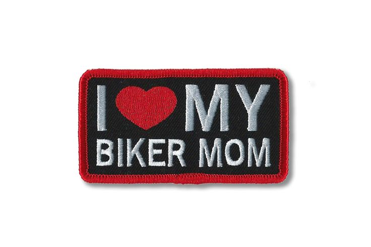 EMBROIDERY PATCH, I Love My Mom Patch, Patches, Harley Davidson Baby, Sons of Anarchy Baby, Motorcycles, Leather Vest Patches, Biker Baby by KIDBIKERApparel on Etsy https://www.etsy.com/ca/listing/498494894/embroidery-patch-i-love-my-mom-patch