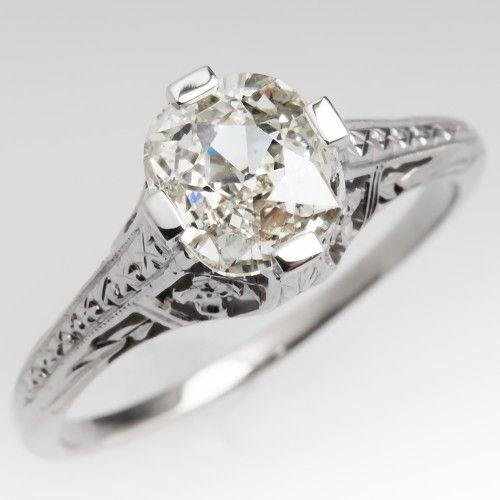 Angara Scroll Filigree-Motif Diamond Solitaire Engagement Ring Xgq8UHGv