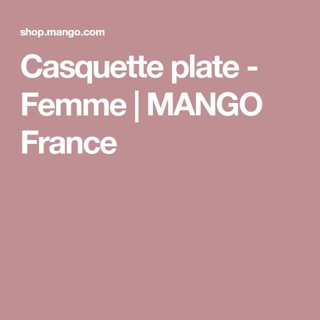 Casquette plate - Femme | MANGO France