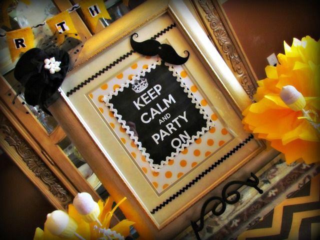 1st birthday mustage theme | Chevron and Mustache themed birthday party | 1st birthday party ideas