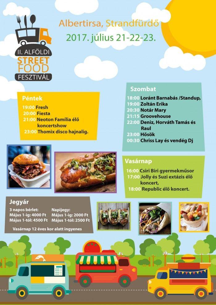 II. Alföldi Street Food fesztivál Albertirsa plakát