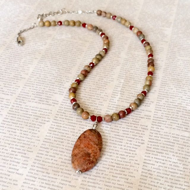 Excited to share the latest addition to my #etsy shop: Red Creek Jasper Pendant Necklace etsy.com/listing/586747473 #jasper #pendant #gemstone #necklace #handmadejewelry #beadednecklace #pendantnecklace #ooakjewelry #fashion #style #giftforher #giftideas #valentinegift