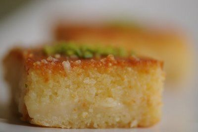 DIMA SHARIF: Arabic Sweets part 1: Hareeseh - Samolina Cake