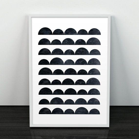 Zwart-wit, zwart-wit afdrukken, abstracte print, eenvoudige muur kunst, minimalistische kunst Textured print, minimalistische, geometrische print, moderne kunst