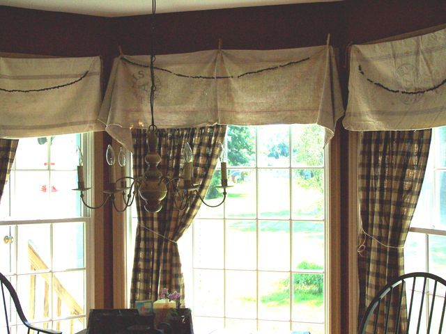 Feed Sacks And Clothes Pins For Valances For The Home