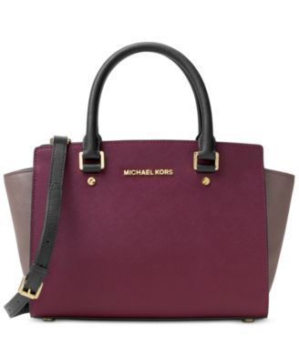 MICHAEL Michael Kors Selma Medium Top Zip Satchel | macys.com