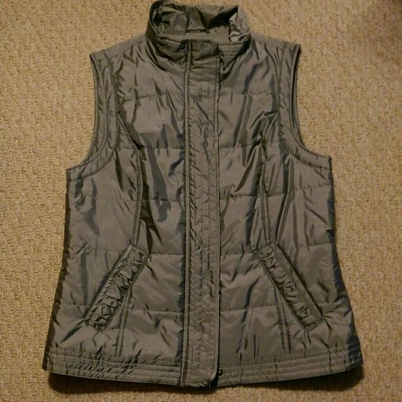 Silver vest. Great for fall! Silver vest with front zipper and snaps. Tribal sportswear Jackets & Coats