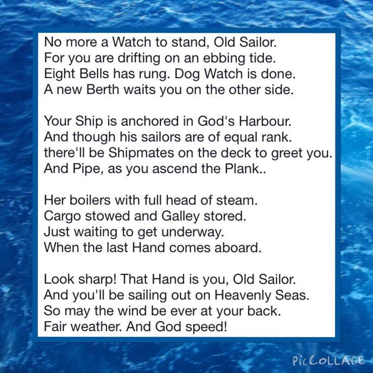 poem in memory a sailor   boat  coastguardsman  anyone who