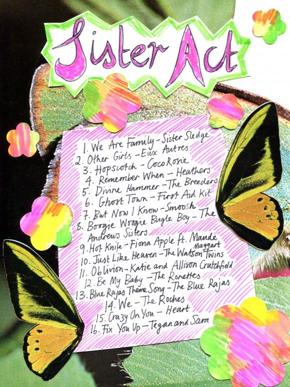 Sister Act playlist - songs for sisters