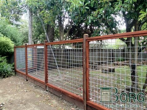 Custom Framed 4 X 4 Welded Wire At Borg Fence And Decks Of