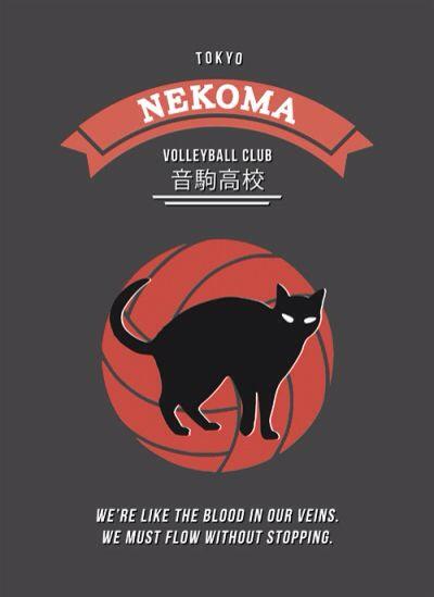 Nekoma high school volleyball club poster