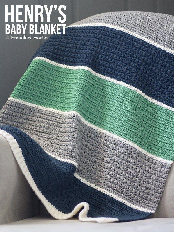 Henry S Baby Blanket Crochet Pattern Free Modern Baby