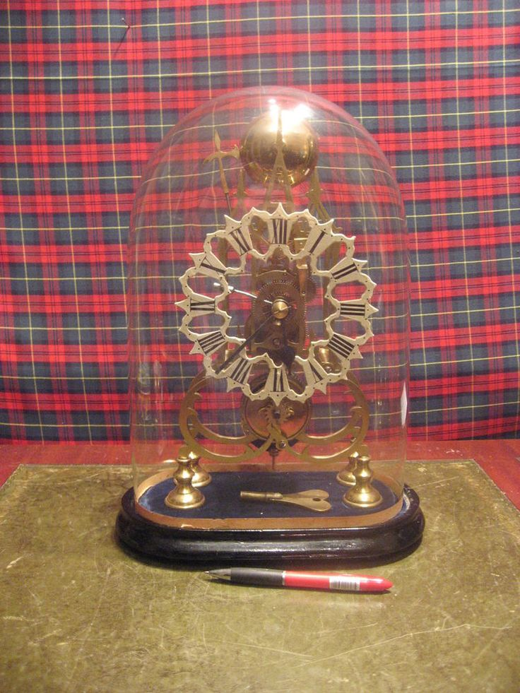 19th CENTURY SKELETON CLOCK WITH GLASS DOME EXPENSIVE FULL RESTORATION SUPERB /4 | Antiques, Antique Clocks, Mantel/Carriage Clocks | eBay!