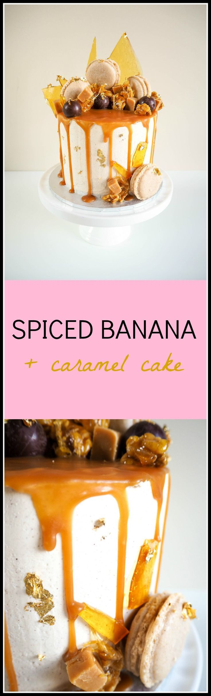 Spiced Banana and Caramel Cake