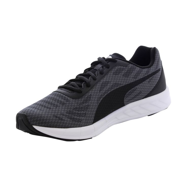 Puma - Men's Meteor Cushioned Running Shoes - Grey/Black