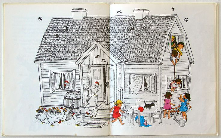 Children's Day in Noisy Village by Astrid Lindgren, ill. Ilon Wikland