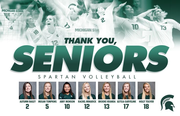 State volleyball seniors.