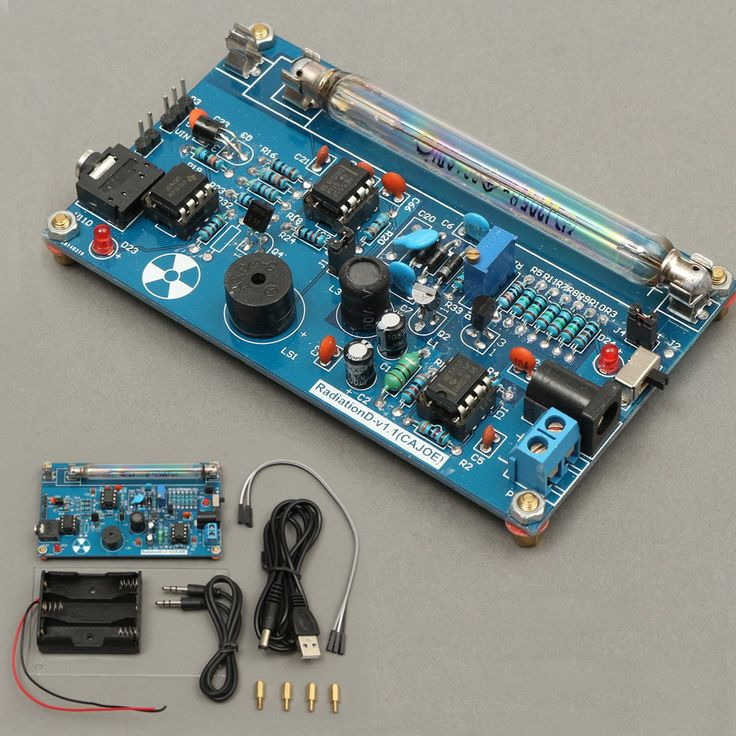 Módulo de montaje de contador Geiger montado DIY Módulo de Miller Tubo de GM Detector de radiación nuclear