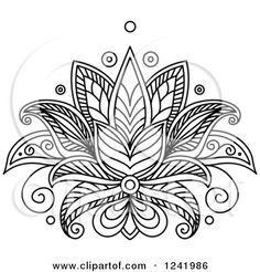 flor de loto henna - Buscar con Google